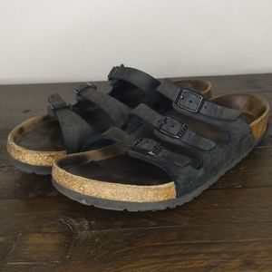 Birkenstock Florida Triple Strap Leather Sandal 39